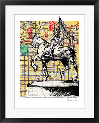 Framed Joan-of-Arc Portland Print