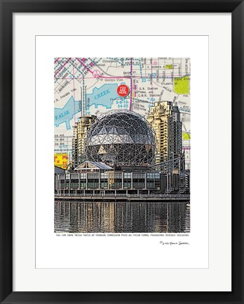 Framed Science World Vancouver Print