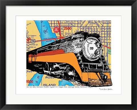 Framed Oregon Rail Heritage Center Print