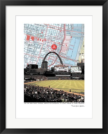 Framed Busch Stadium Inside Print