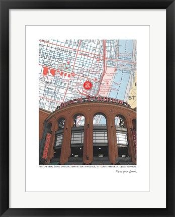 Framed Busch Stadium Outside Print