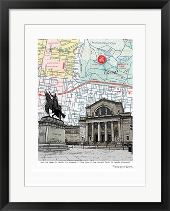 Framed St. Louis Art Museum Print