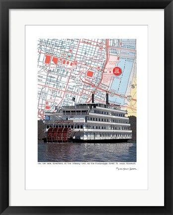 Framed St. Louis River Boat Print