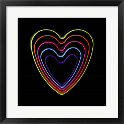Framed Good Vibrations - Hearts Print