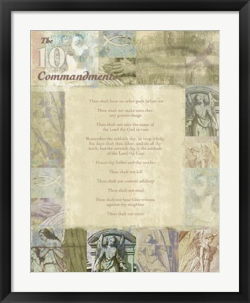Framed Ten Commandments Print