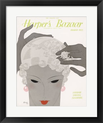 Framed Harper's Bazaar March 1932 Print