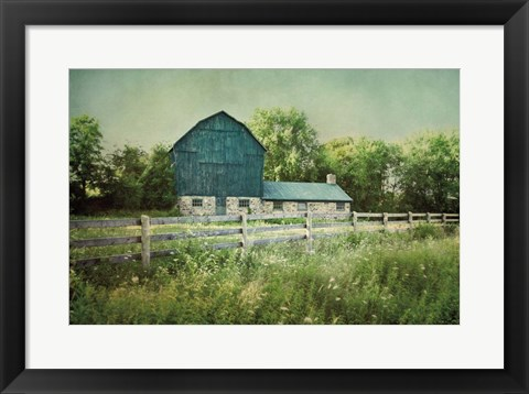 Framed Blissful Country III Print