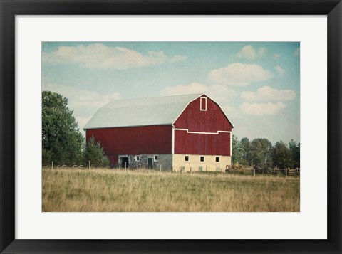 Framed Blissful Country VI Crop Print