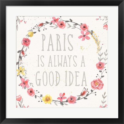 Framed Paris Blooms IV Print