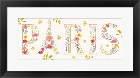 Framed Paris Blooms V Print