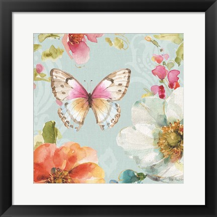Framed Colorful Breeze V Print