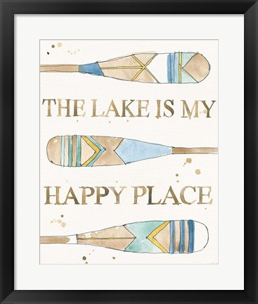 Framed Lakehouse III Print