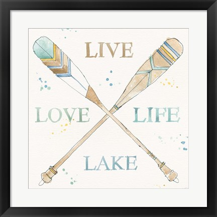 Framed Lakehouse V Print