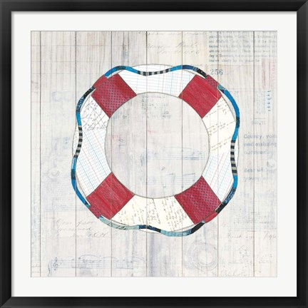 Framed Wind and Waves III Nautical Print