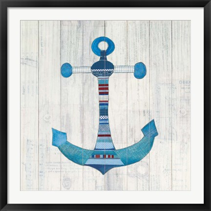Framed Wind and Waves IV Nautical Print