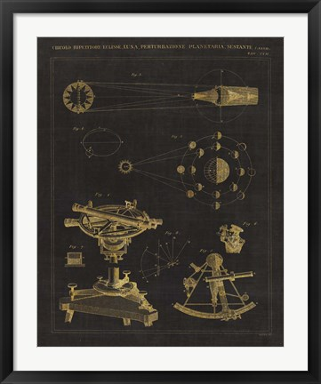 Framed Astronomical Chart II Print