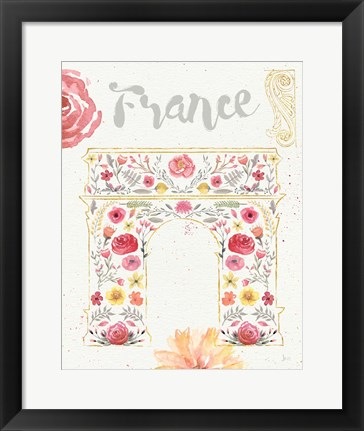 Framed Paris Blooms II Print