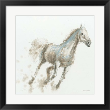 Framed Stallion I Print