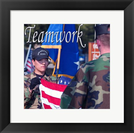 Framed Teamwork Affirmation Detail Print