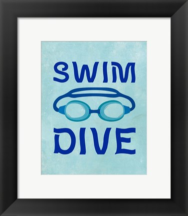 Framed Swim Dive 1 Print