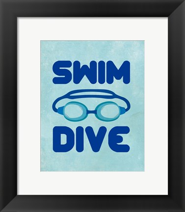 Framed Swim Dive 2 Print