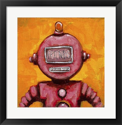 Framed Weebot-Friends Print