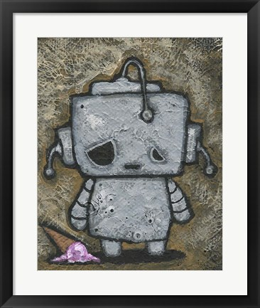 Framed Weebot-Icecream Print