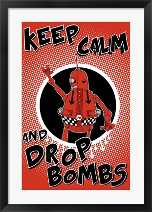 Framed Drop Bombs Print