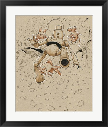 Framed Floatbot Fish Print