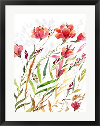 Framed Meadow III Print