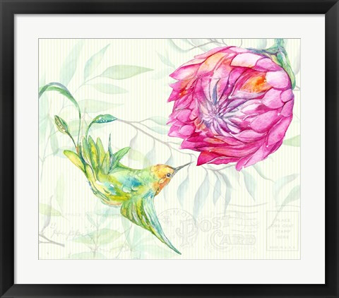 Framed Tropical Garden II Print