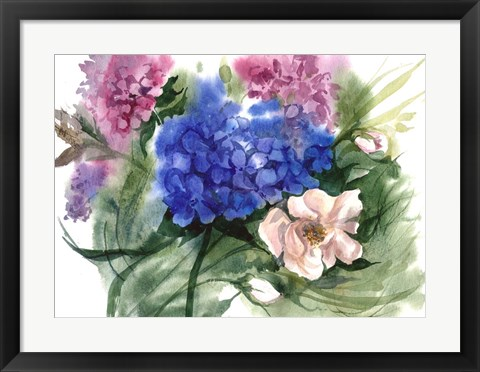 Framed Watercolor Garden II Print