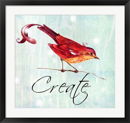 Framed Bird Inspiration V Print