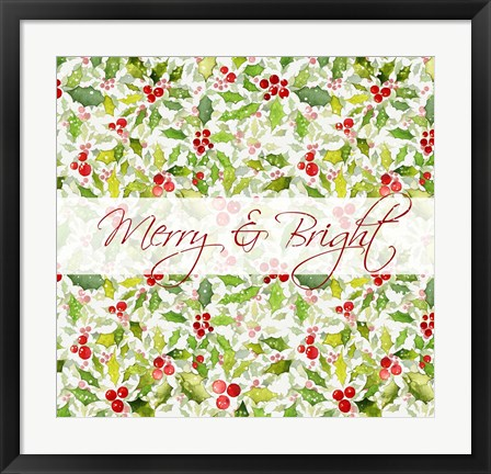 Framed Merry and Bright Print