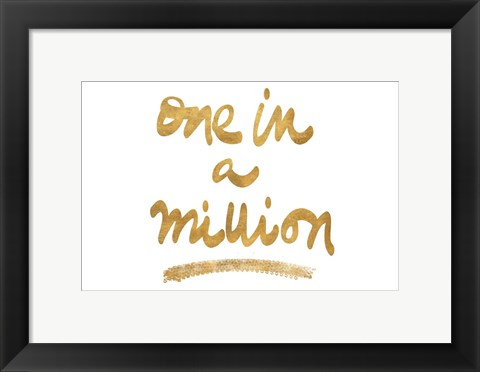 Framed Million On White Print