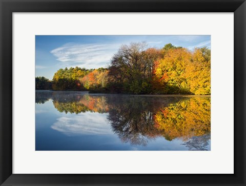 Framed Color On Grist Mill Pond Print