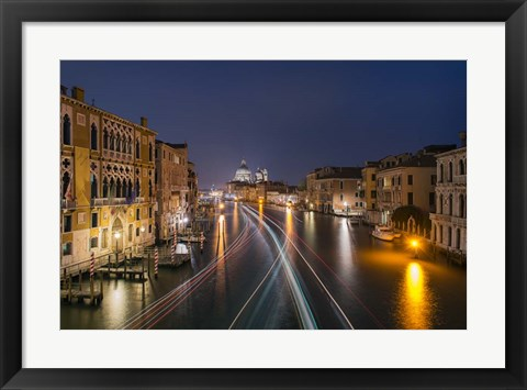 Framed Passage On The Grand Canal Print