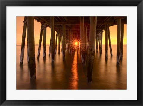 Framed Under The Pier Print