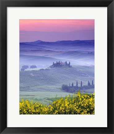 Framed Dawn over Belvedere Print
