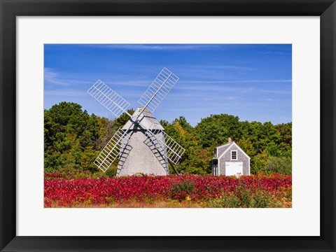 Framed Higgins Farm Windmill Print