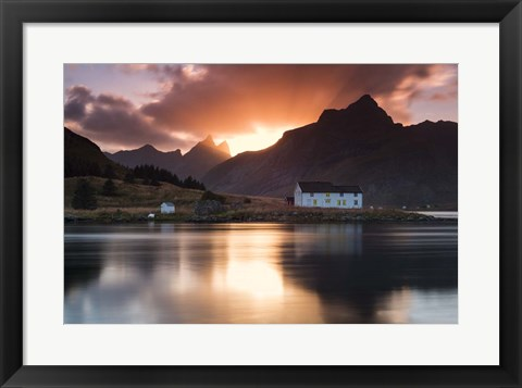 Framed House on the Point Print