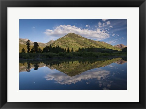Framed Mirror Reflection on Paradise Pond Print