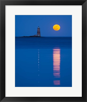 Framed Moonrise Reflections Print