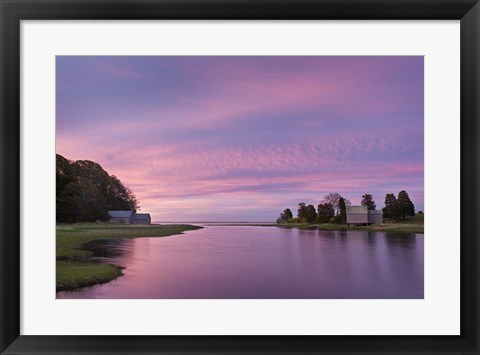 Framed Morn at Salt Pond Print