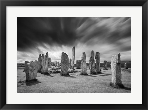 Framed Clouds over Callanish Print