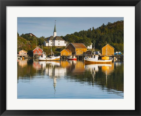 Framed Harbor at Rest Print