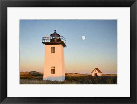 Framed Moon over Wood End Print