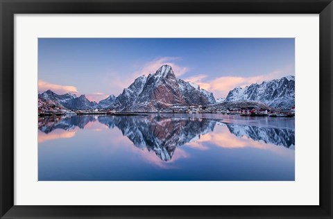 Framed Mountain Glow Print