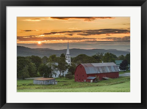 Framed Farm and A Prayer Print