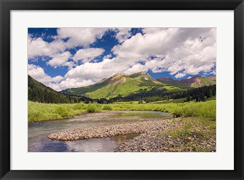 Framed Along the Gothic River Print
